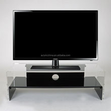 acrylic tv display stand remote control holder rack