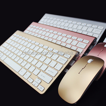Faironly Wireless Keyboard Mouse Set 2.4GHz Ultra Thin Keyboards for PC Laptop Silver Gray