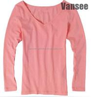 long sleeve women thermal plain scoop neck t shirts