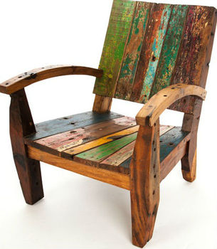 Chair Made Of Old Boat Wood Bwc35