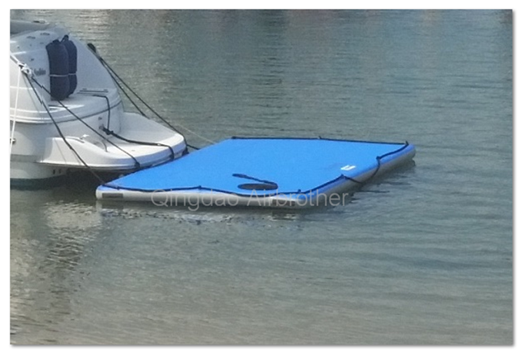 Hot sale dwf inflatable floating fishing pontoon platform for Inflatable fishing boats for sale