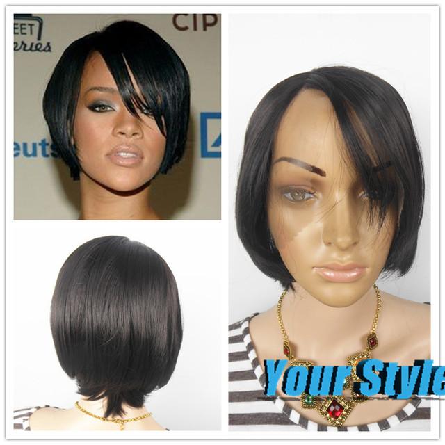 Admirable Synthetic Yaki Lace Front Bob Wigs For Black White Women Short Short Hairstyles Gunalazisus