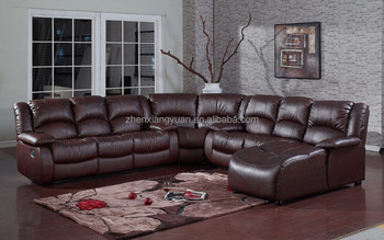 Living Room Furniture Sectional Sofa Leather Air Fabric Reclining