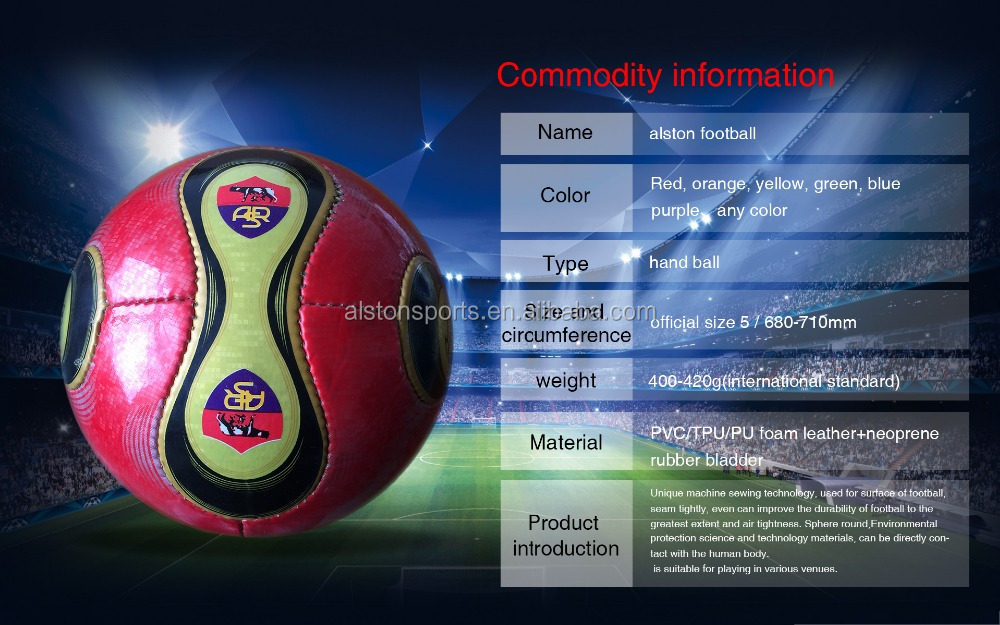 Professional Branded Official Size 5 Globe Hand Stitiched Genuine Leather PU Soccer Ball For Match Training