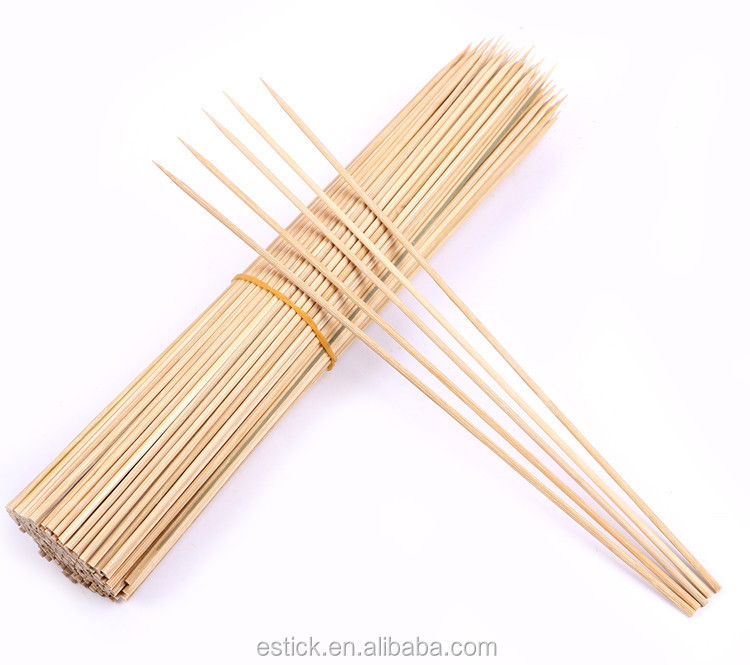 Low price straight bamboo skewer in plastic bag