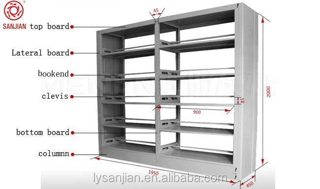 Steel Book Shelves Library Bookshelf Dimensions