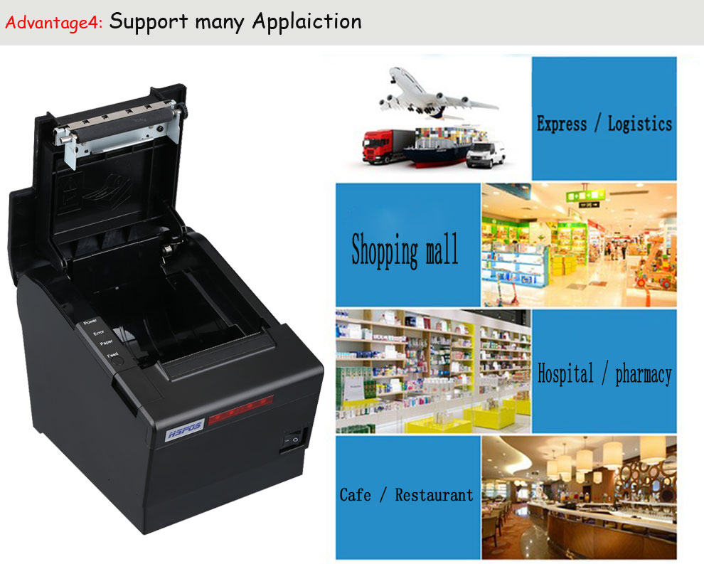 Pos 80mm high speed quality wireless thermal printer support oem