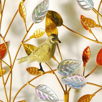 New Product 2018 Bird Metal Home Decor Wall Hanging Art Iron ...