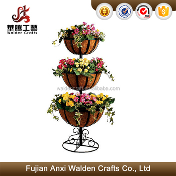 Hot Sale Elegant Europen Style Design 3 Tier Metal Plant Stand With