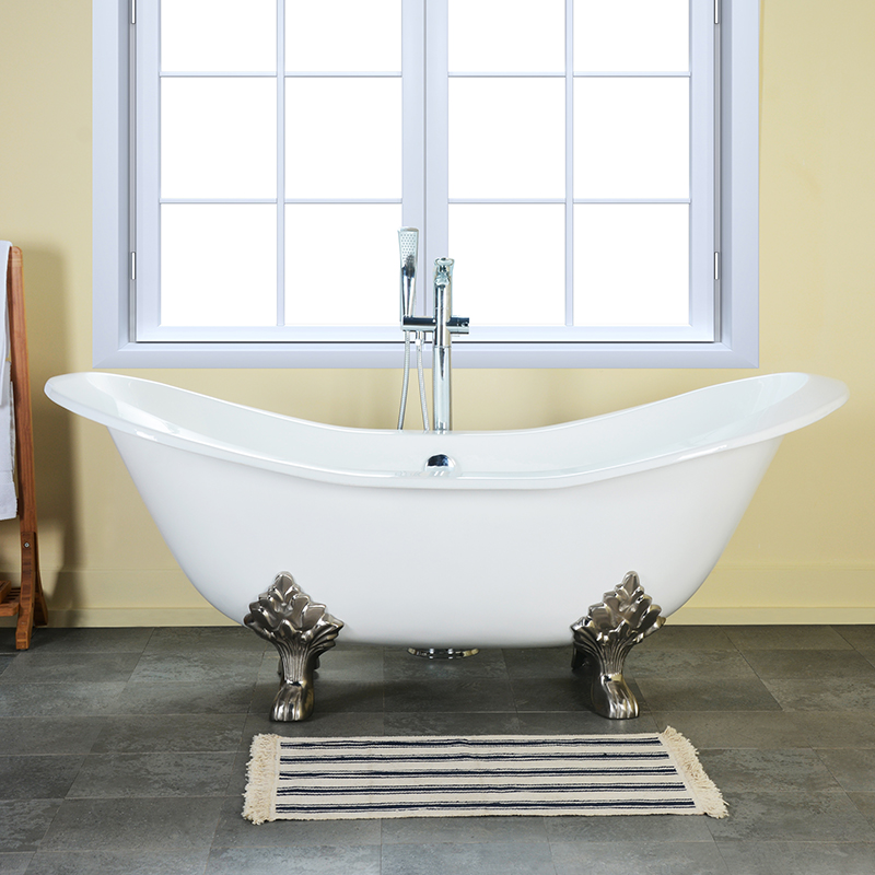 Two Person Sofa Bath Tubs With Claw Foot For Fat People Used Cast