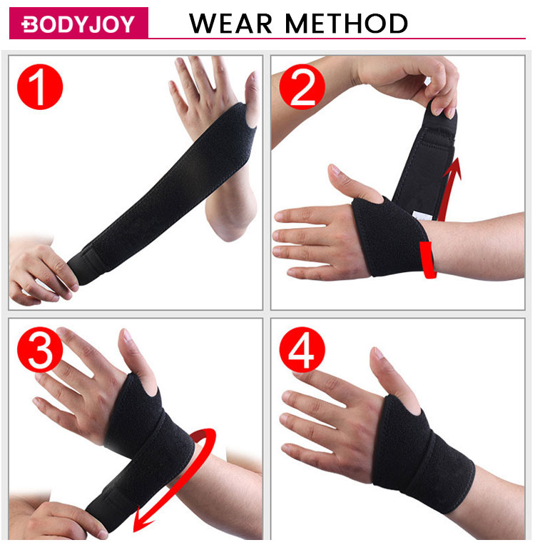 wrist wraps gloves therapy gel thumb wrist brace weightlifting sport belt gym
