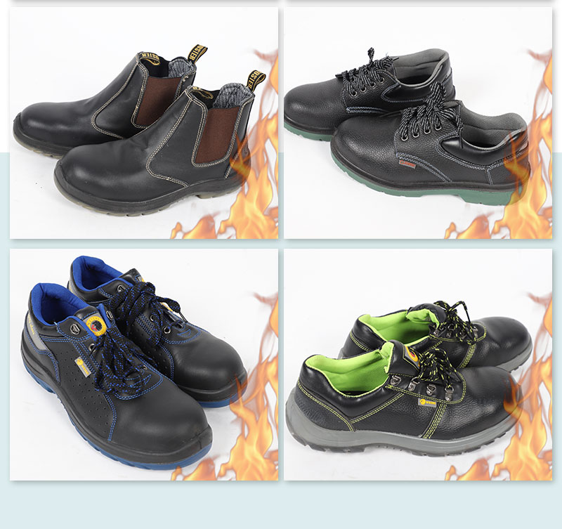 CE Approved Safety Slip Resistant Work Shoes for Construction Workers