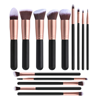 Free Sample Makeup Brushes/Crystal Handle Makeup Brush Set/Custom Logo Make Up Brushes 14pcs 18pcs brush set