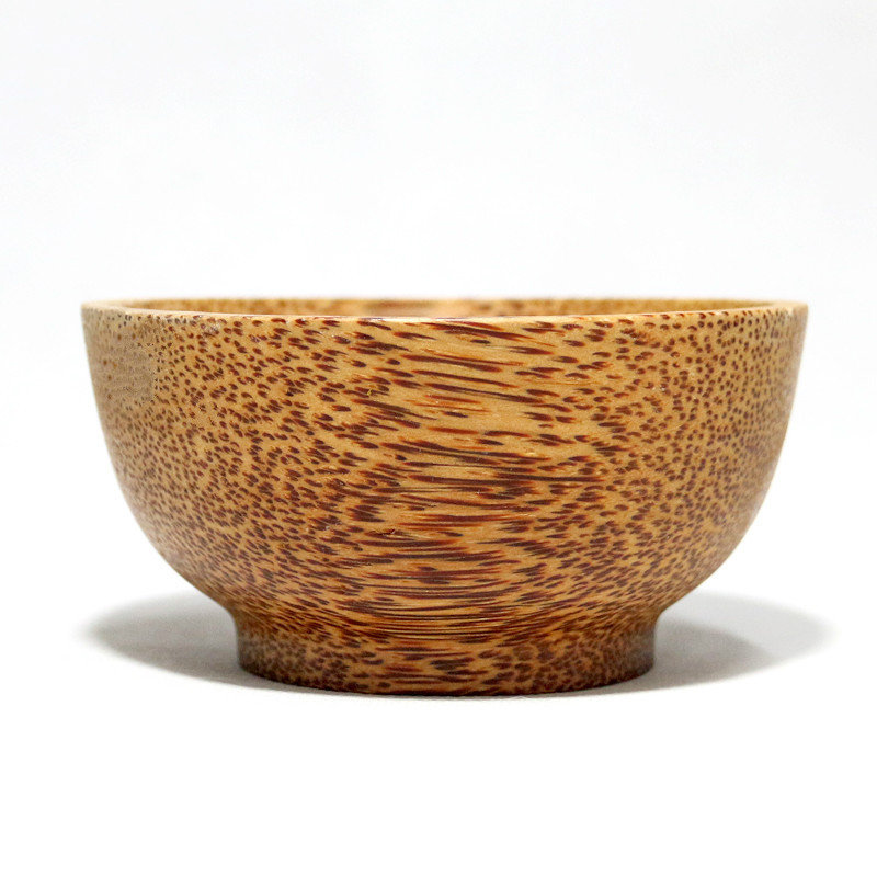 Fancy Eco Friendly Wood Fruit Salad Bowl Customized LOGO  Wooden Coconut Bowls