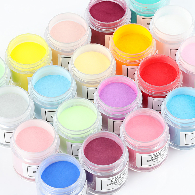 Rosalind high quality no need lamp cure quick nail color dip acrylic <strong>powder</strong> easy apply nail dipping <strong>powder</strong> for nail art salon