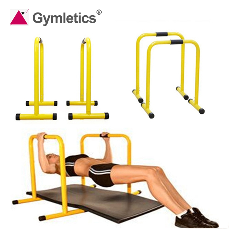 Yellow Adjustable Door Gym Horizontal Indoor Fitness Equipment Dip Bar Parallel Bar