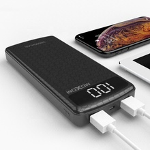 Inovatif Power Bank 10000 MAh dengan LCD Display Moxom Li-Polymer Portabel Power Bank