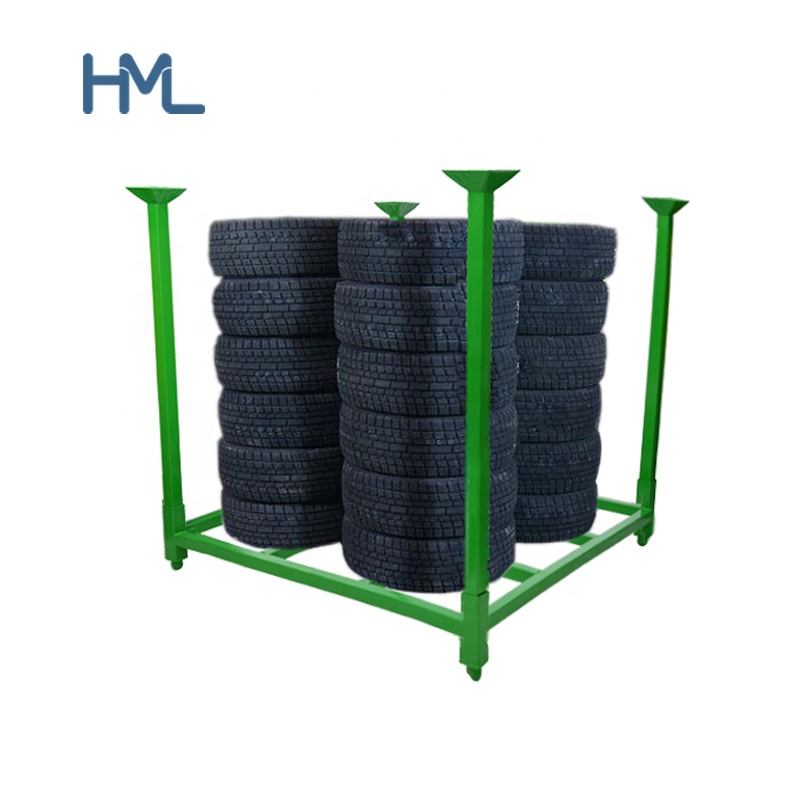 Powder coating heavy duty 창 고 산업 적층 한 collapsible 강 metal pallet 타이어 storage 랙