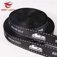 Cheap custom packing polyester grosgrain stitching ribbon