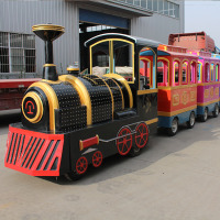 amusement park equipment suppliers electric trackless toy train for sale