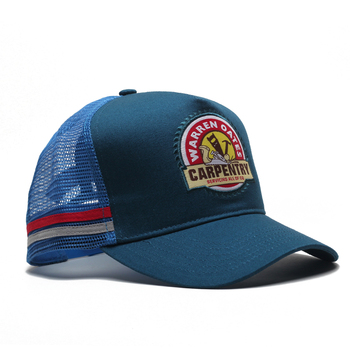 Wholesale Yupoong Trucker Mesh Hat Embroidered Terry Patch striped front trucker mesh cap