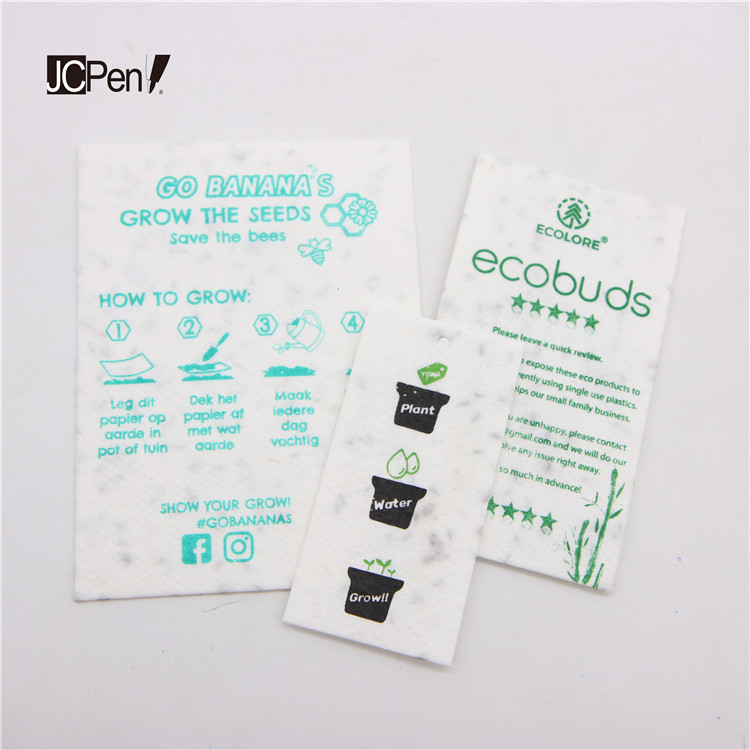 promotion students school home decoration plantable packaging seed paper