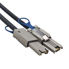 Mini External SAS para Mini Cabo SAS Serial Attached SCSI 26 Pin SFF 8088 Cabo Macho para Macho com Trava 3FT