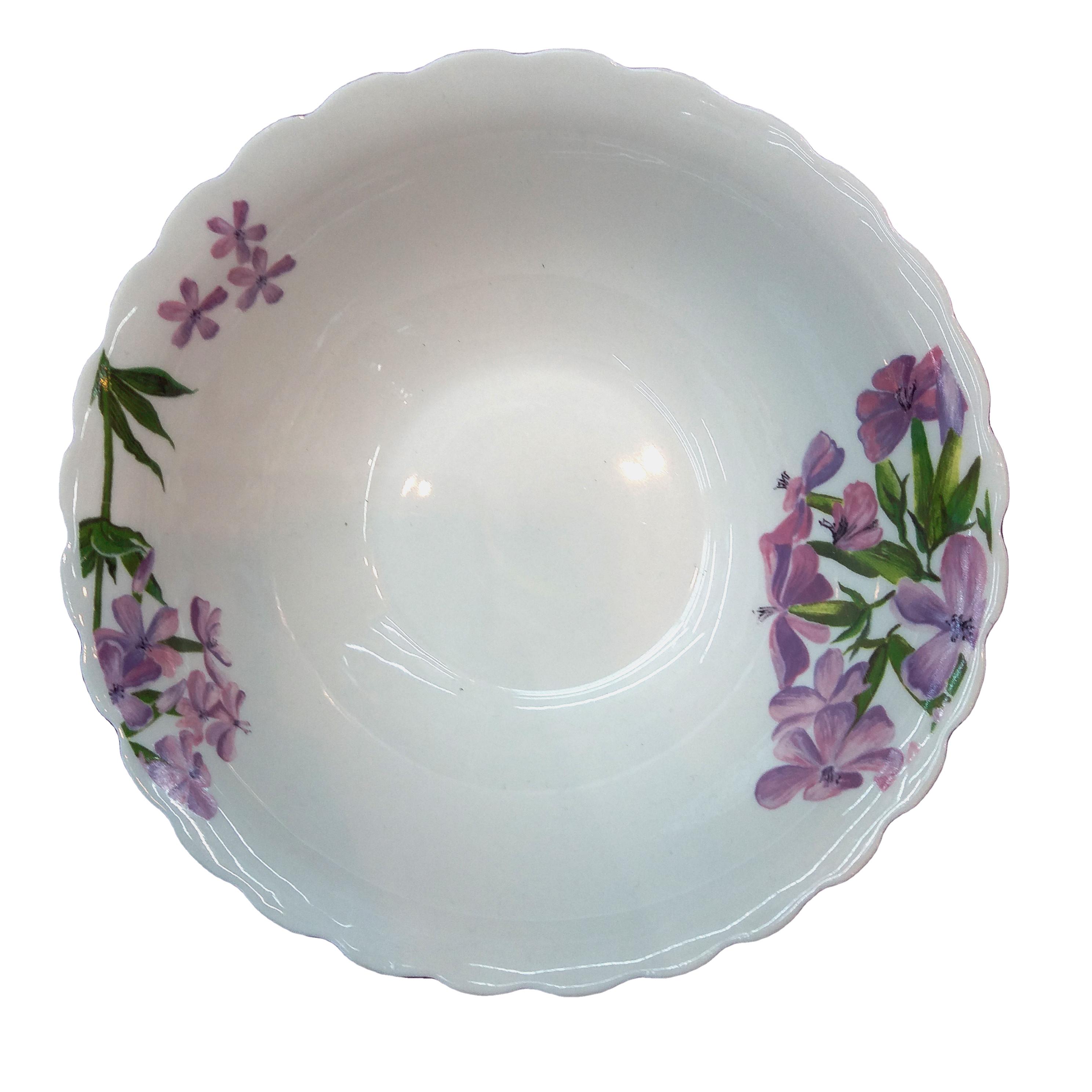 Фарфоровая белая миска для салата с заказной этикеткой дешевые керамические фарфоровые миски с простым цветочным дизайном Салатница