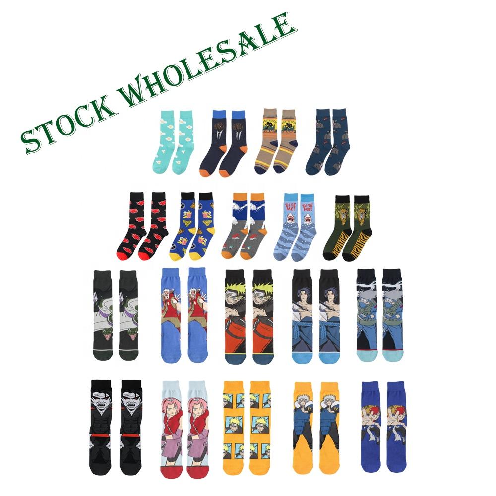 dropshipping funny crew cartoon socks custom logo mens comics socks wholesale crazy super hero socks happy design high quality