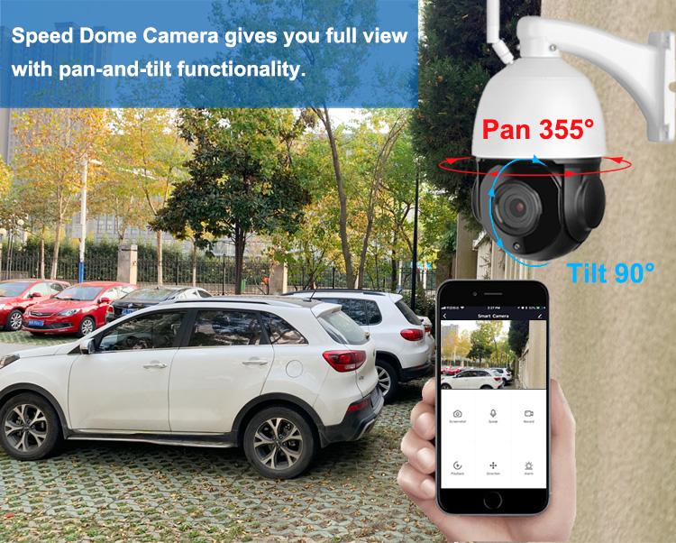 5MP speed dome ip camera 30X optical zoom ptz ip camera human auto tracking motion detection alarm