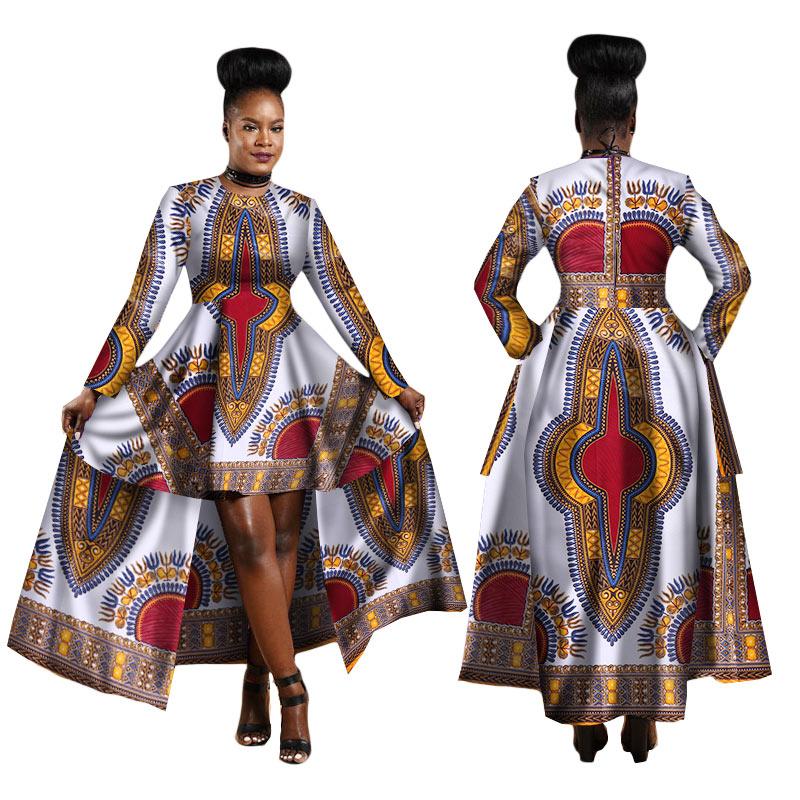Afrikaanse jurken voor vrouwen afrikaanse borduurwerk bazin jurk Dashiki vrouwen jurk katoen afrikaanse print kleding plus size wy1268