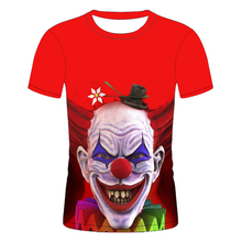 3D Imprimé <span class=keywords><strong>T</strong></span>-<span class=keywords><strong>shirt</strong></span> Hommes <span class=keywords><strong>Joker</strong></span> Visage Casual O-cou Hommes Tshirt Clown Manches Courtes Cosplay <span class=keywords><strong>T</strong></span>-shirts Drôles
