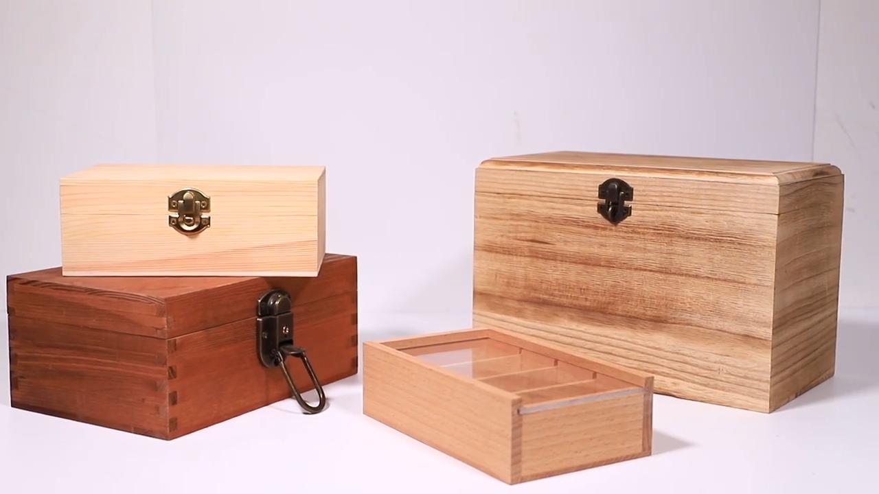 شعار مخصص رخيصة خشبية مربع المفصلي غطاء الخشب تذكارية هدية صناديق