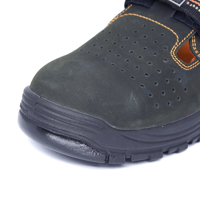 Hot Selling   with steel toe Abrasion resistant  Leather sandals Safety work Shoes