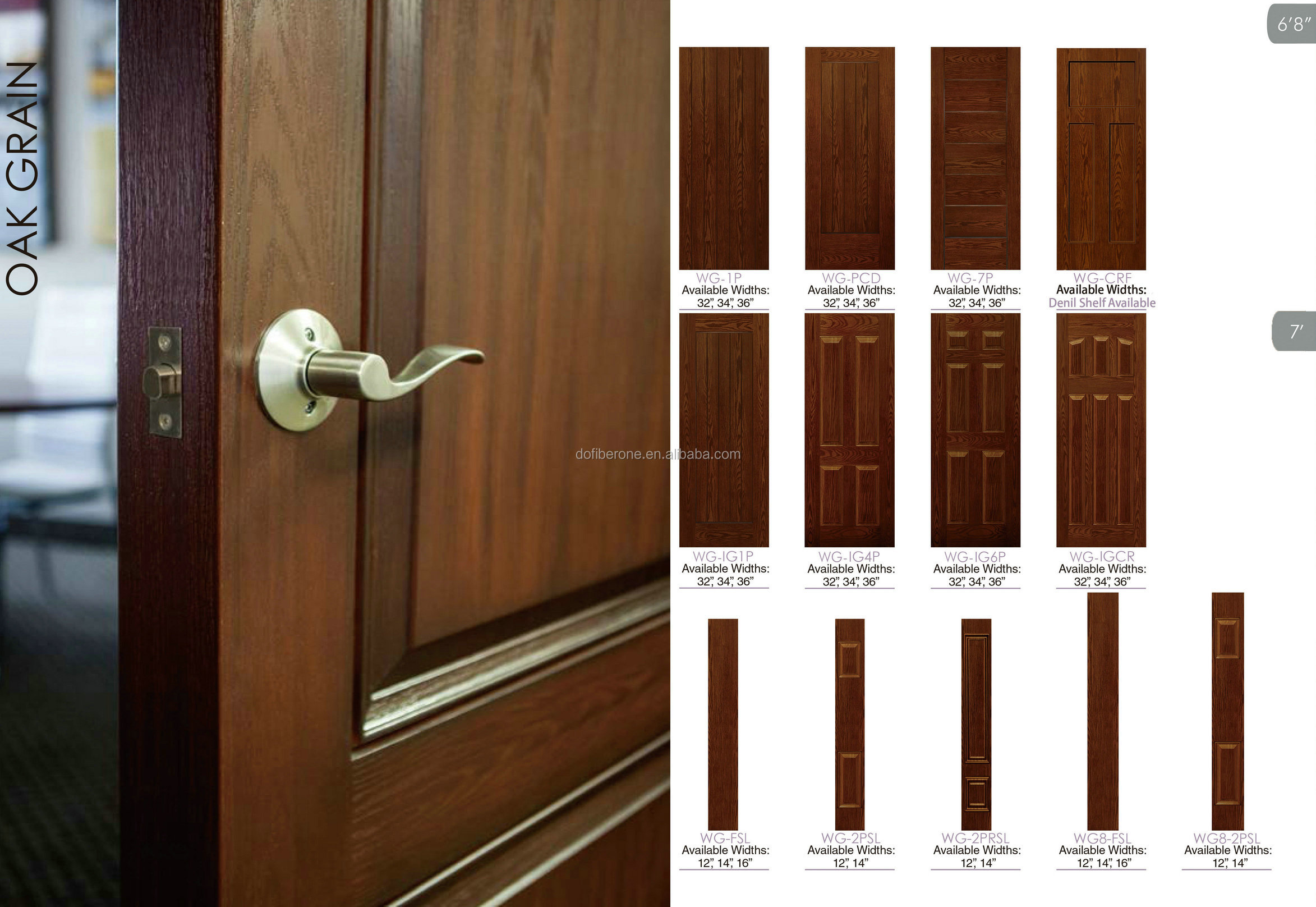 fiberglass glassfiber FRP GRP glazed blinds door