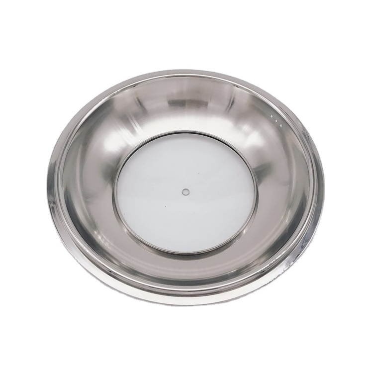 36 cm round frying pan with lid stainless steel pot with metal lid