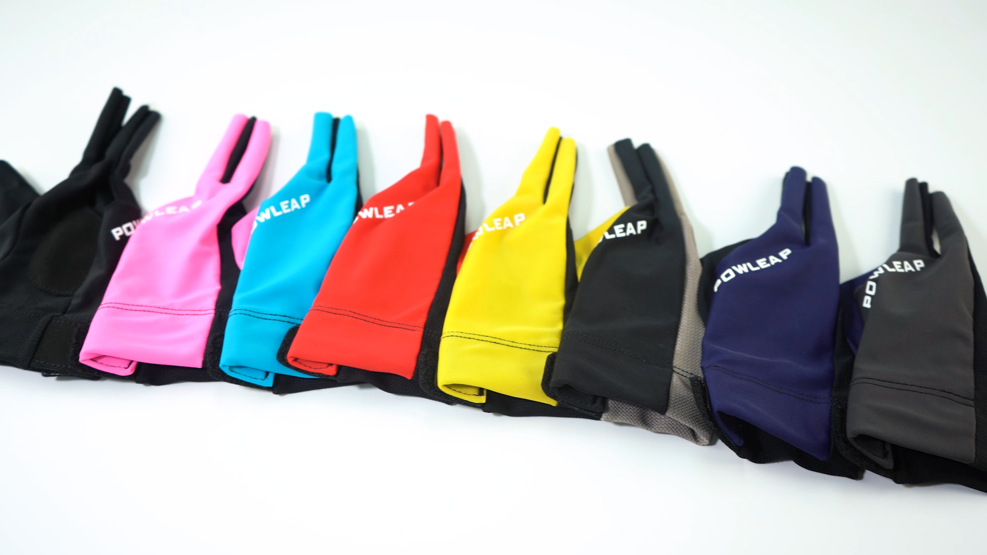Latest soft cue pooling gloves hot sale billiards snooker table tennis gloves