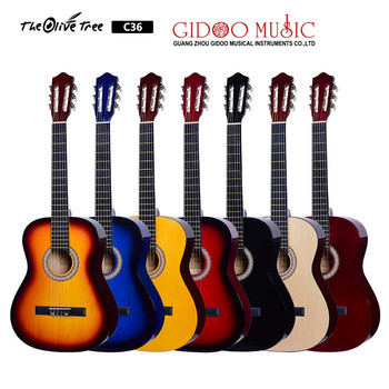 OEM Beginner Classical Guitar 3/4 36 Inch Nylon Strings Starter Guitar Kit for Students with Carrying Bag Accessories