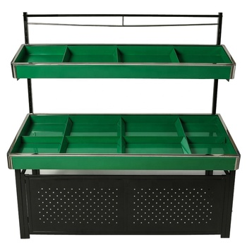 Supermarket  grocery metallic fruit and vegetable display stand