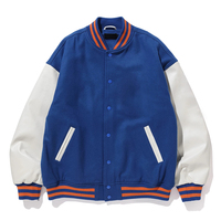 Customization Varsity Jacket Number One Letterman, Baseball, College, Football Men Varsity jackets with Aero front Pockets
