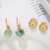2020 fashion jewelry spring  Womens Gold plating  Natural Stone gemstone druzy drop set Earrings