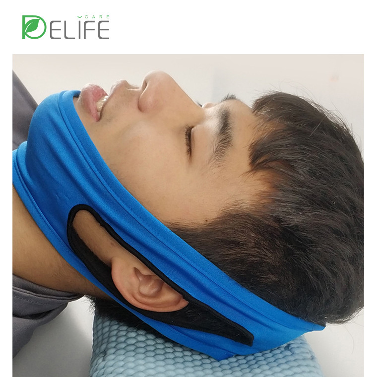 조정 가능한 안티 코 고는 수면 무호흡증 삼각형 턱 스트랩 프로 벨트 장치 수면 약용 밴드 턱 지원 솔루션 2019