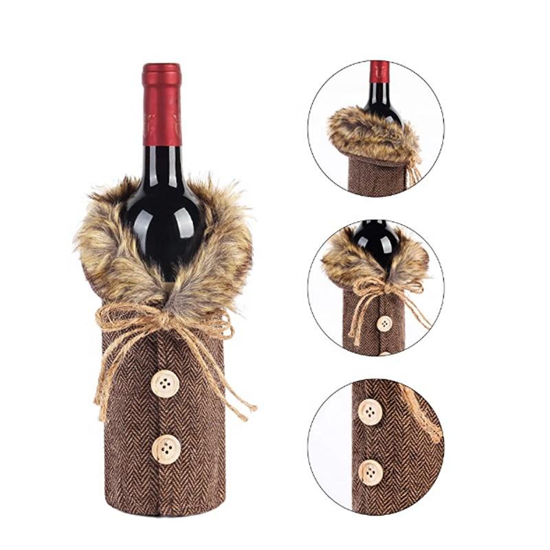2020 yeni noel High-End kırmızı şarap şişesi kapağı restoran dekorasyon sahne