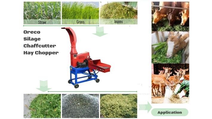 Mobile Silage Chaff Grass Chopper Hay Cutter Machine