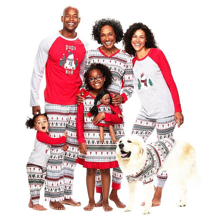 New Style Cartoon Printed Custom Logo Cotton Christmas Kids Pajamas Family Christmas Woman Onesie Sleepwear