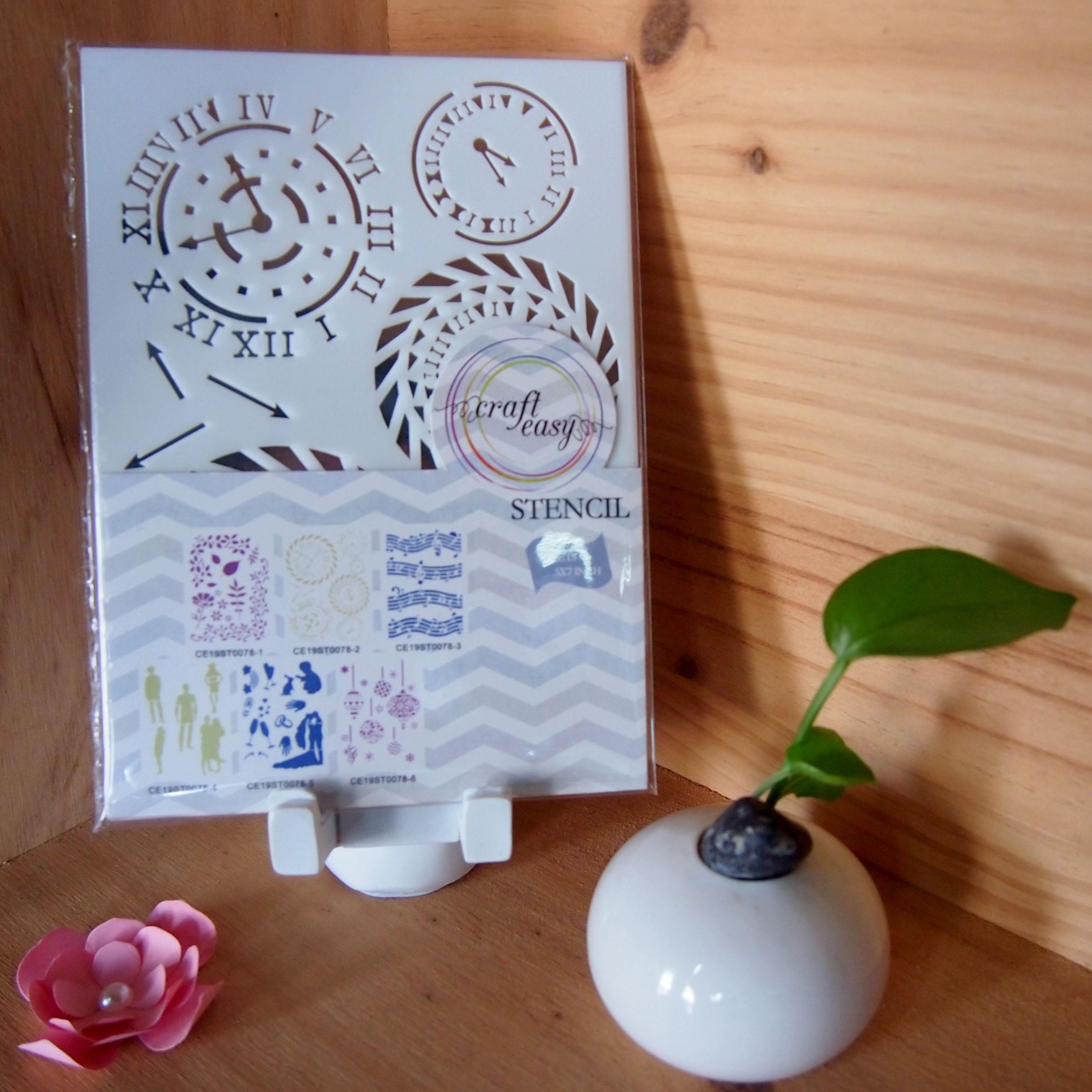 Menjaga Waktu Kustom DIY Kerajinan Cat Semprot Yang Dapat Digunakan Ulang Gambar Dekoratif Stensil Set