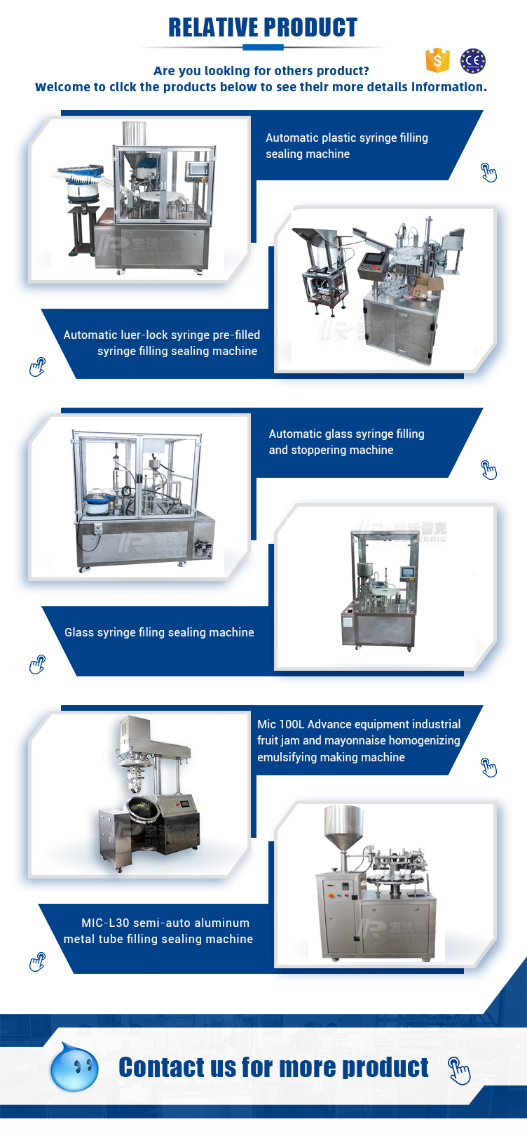 Automatic high speed loading glass syringe filling plugging machine filling capping machine for machine