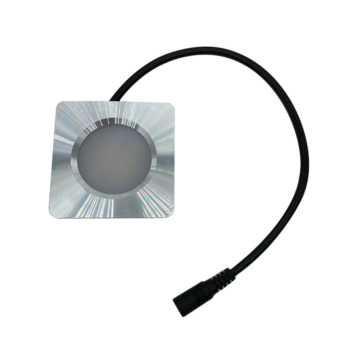 Puck LED Light with 5.5mm Plug Wire Dome Light 10-30V 12V 24V Square or Round Down Lamp Ceiling
