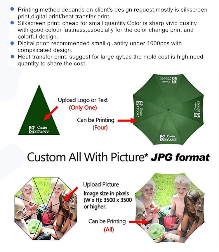 High quality wholesale promotional cheap custom logo print 3 folding umbrella