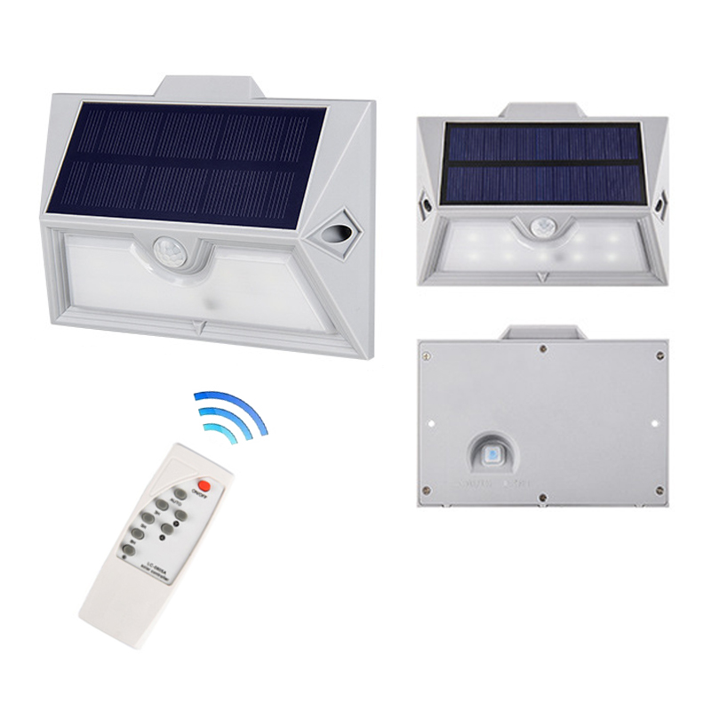 Newest 9LED Solar Garden Light Wireless remote control smart sensor Security Wall light Outdoor  Waterproof lamp yard lighting